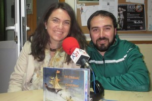 Con Javier Fernández... mago de la improvisación y locutor infantil todoterreno...